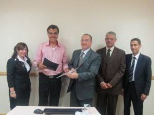 Dubai – Feb.2013 signing a collaboration agreement with the Legalization Consulting Association in Egypt