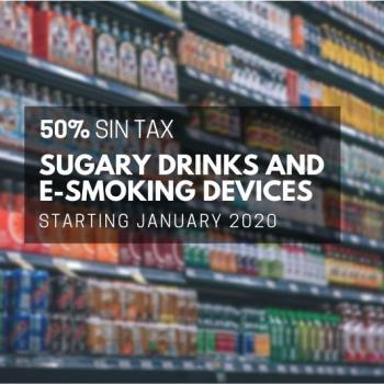 new sin tax for sugary drinks and e-smoking devices